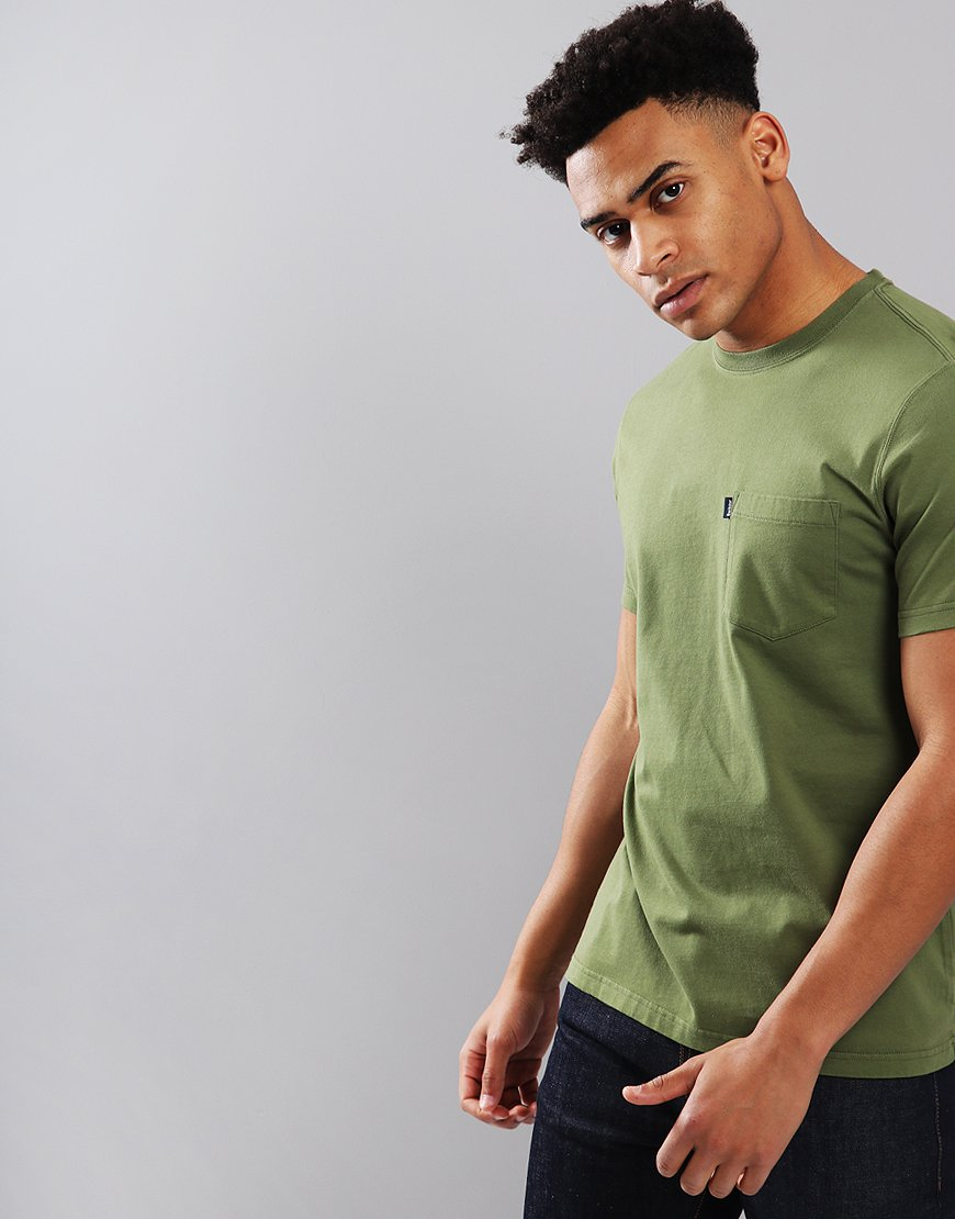 Barbour Essential Pocket T-Shirt Burnt Olive
