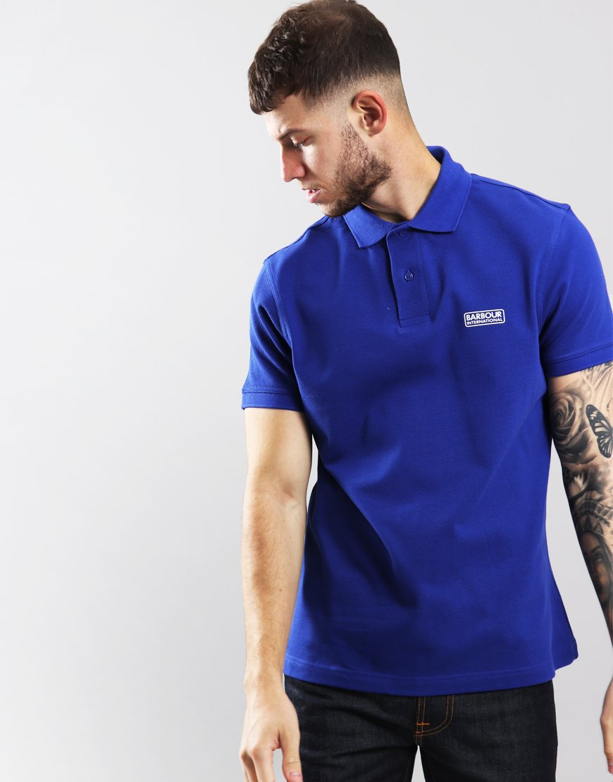 Barbour International Essential Polo Shirt Aragon Blue