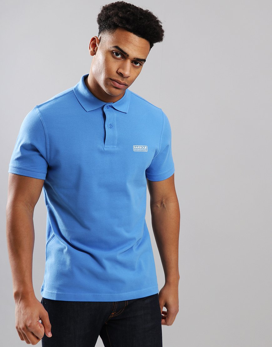 Barbour International Essential Polo Shirt Vivid Blue