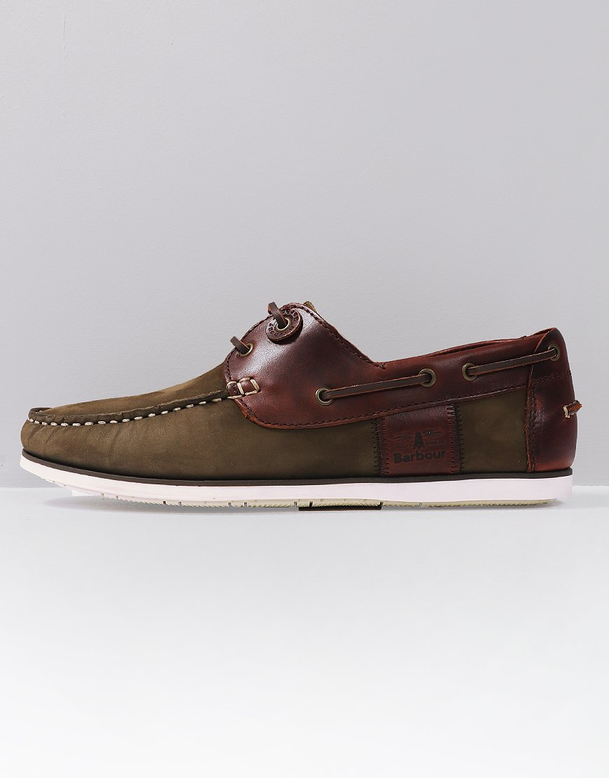 Barbour Capstan Shoes Olive