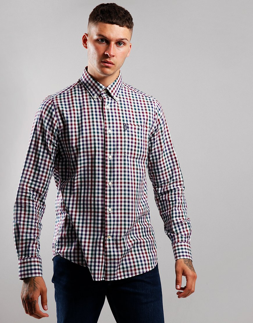 Barbour Country Check 6 Long Sleeve Shirt Plum
