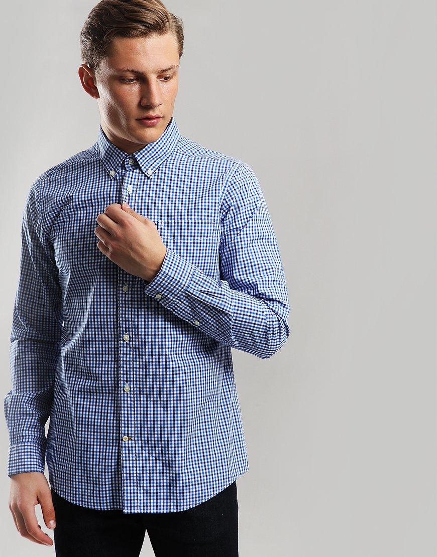 Barbour Gingham 1 Long Sleeve Shirt Blue