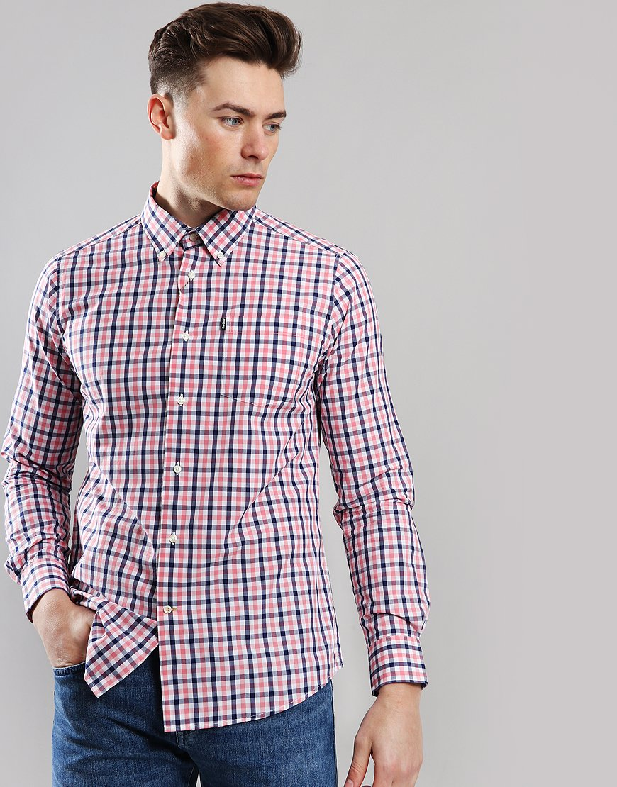 Barbour Gingham 4 Tailored Shirt Pink