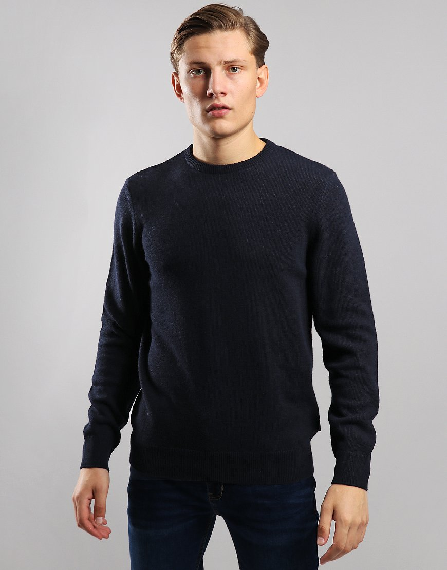 Barbour Harold Crew Neck Knit Navy/Black Watch