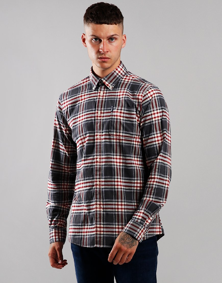 Barbour Highland Check 11 Tailored Long Sleeve Shirt Grey
