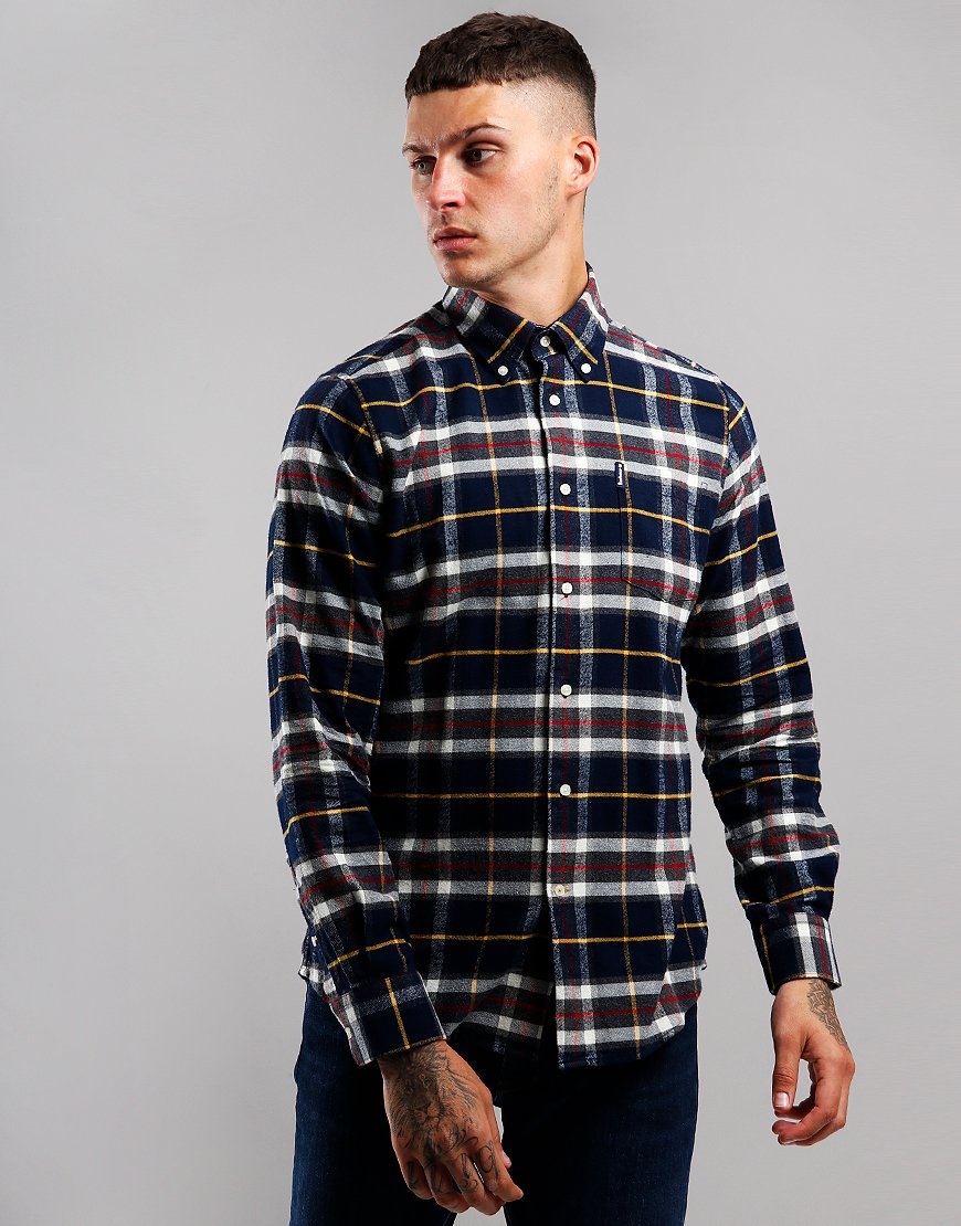 Barbour Highland Check 13 Tailored Long Sleeve Shirt Navy