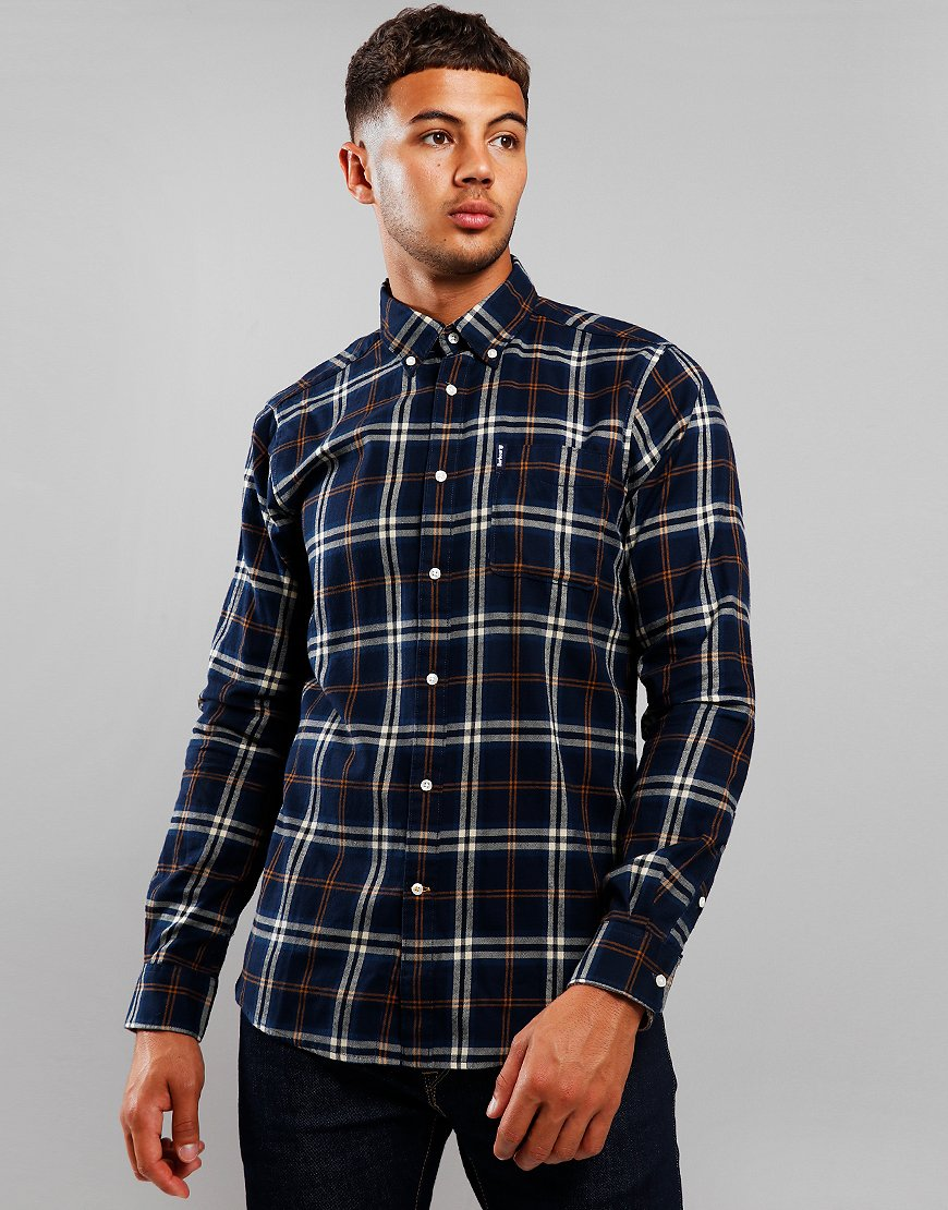 Barbour Highland Check 20 Tailored Long Sleeve Shirt Blue