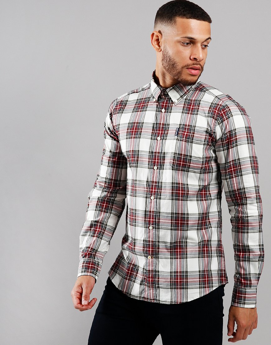 Barbour Highland Check Tailored Long Sleeve Shirt Neutral