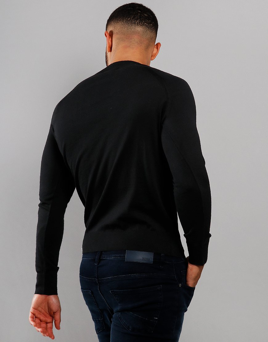 Barbour International Absorb Merino Crew Neck Knit Black