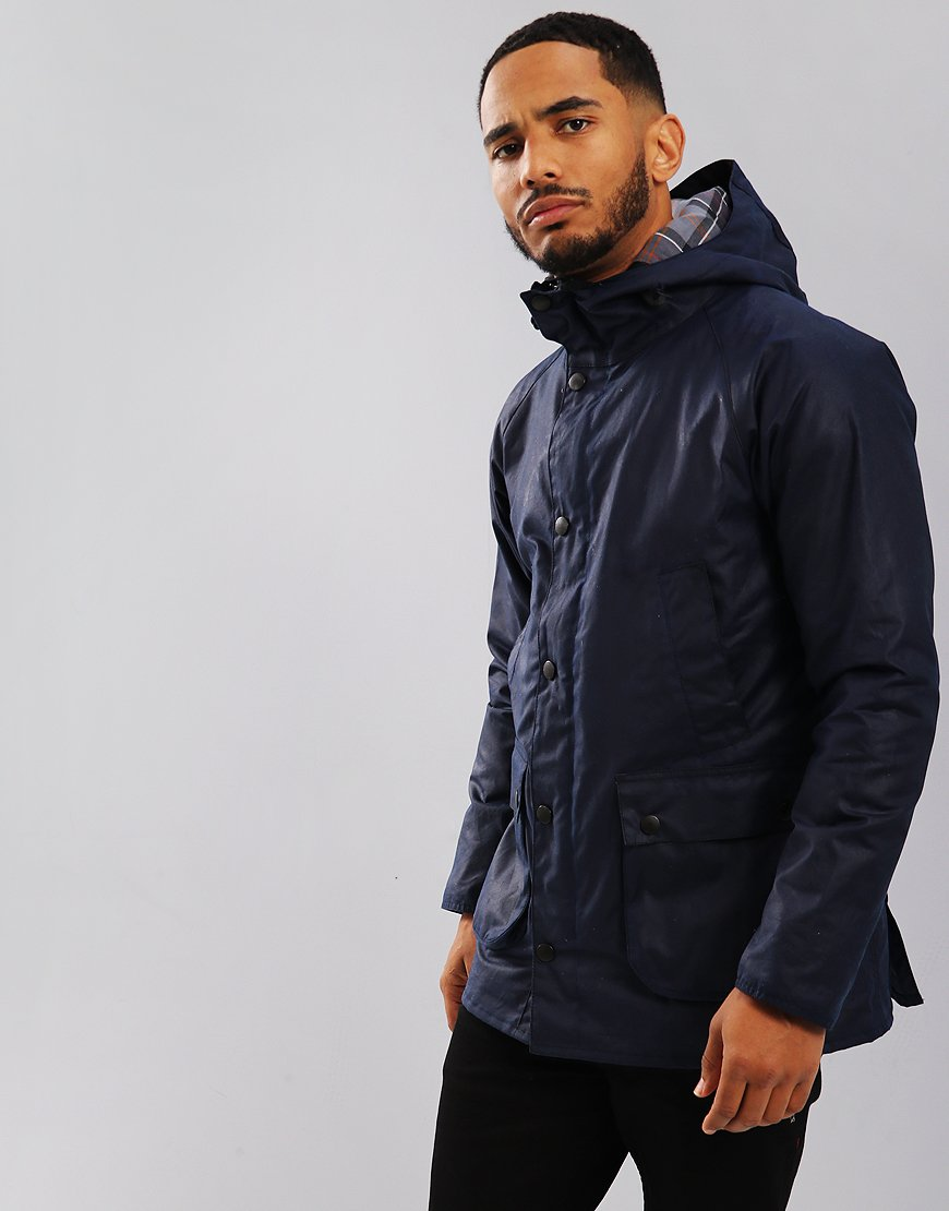 Barbour International Bedale Hooded Jacket Indigo