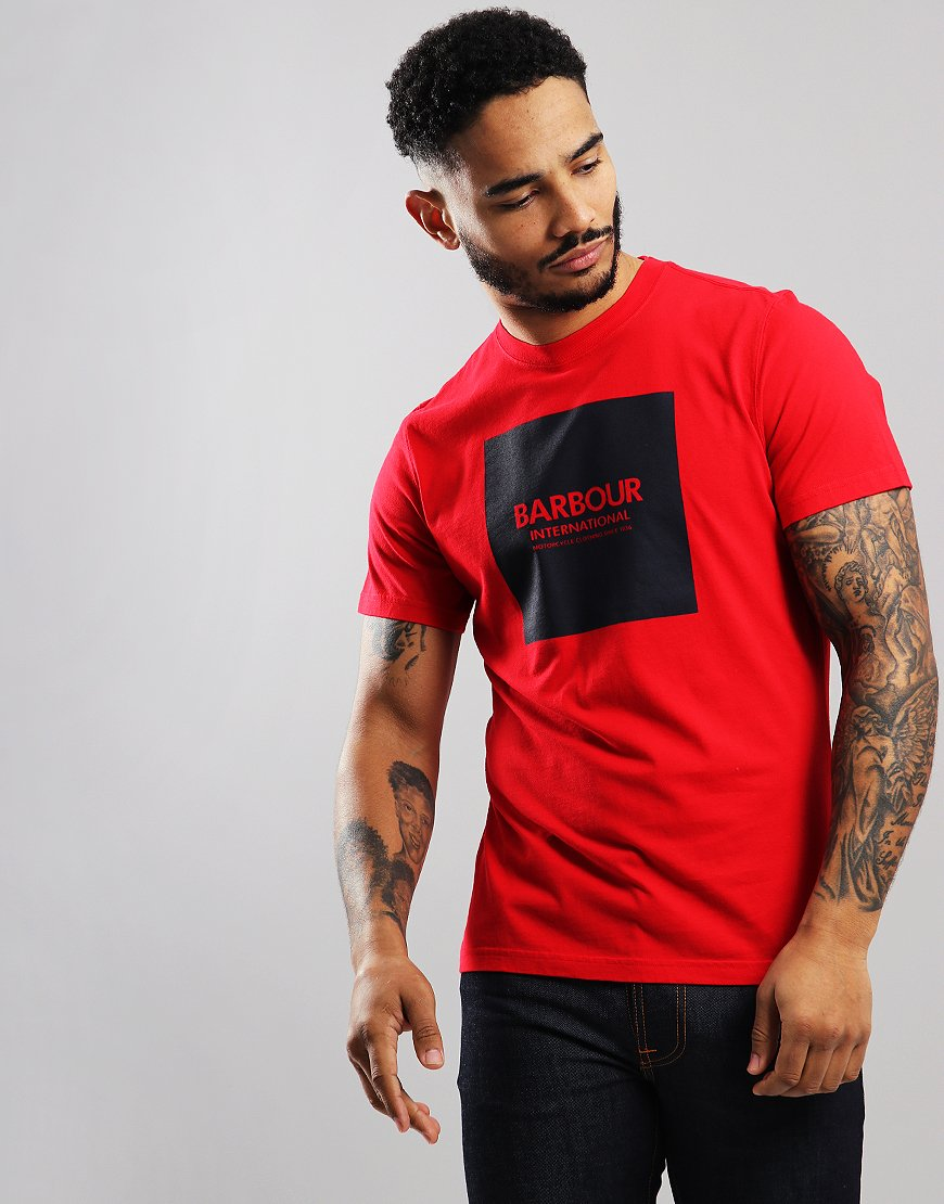Barbour International Block T-Shirt Vibrant Red