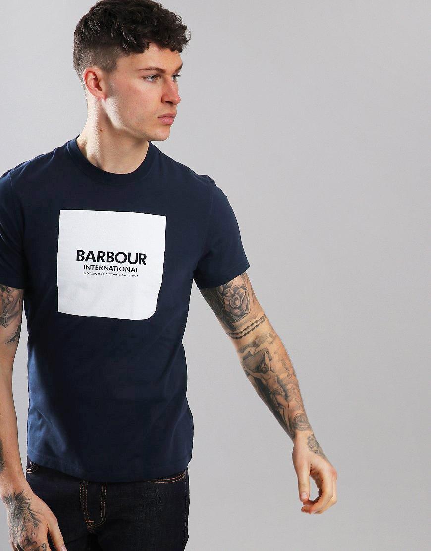 Barbour International Block T-Shirt Navy