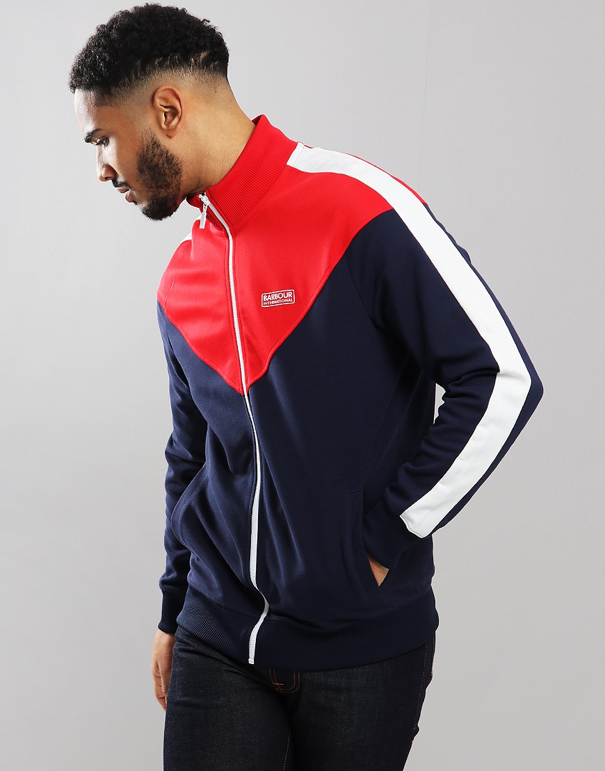 Barbour International Diode Track Top Navy
