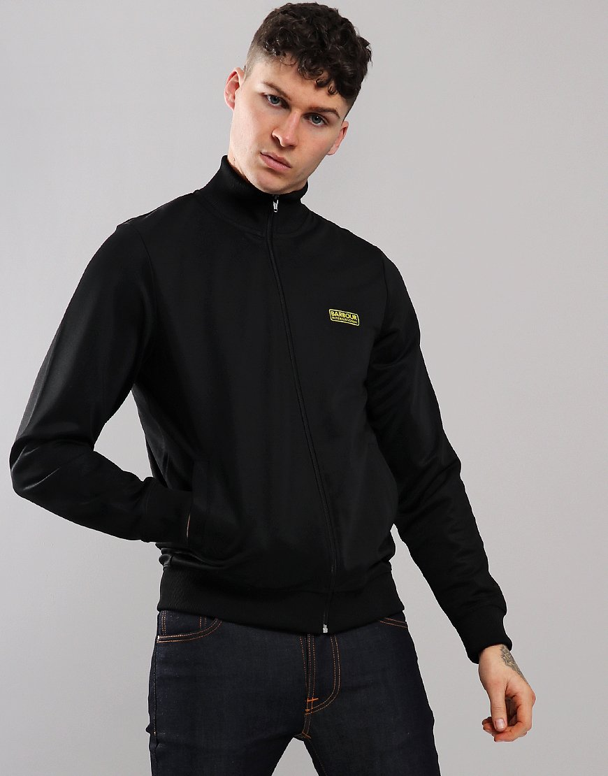 Barbour International Essential Track Top Black