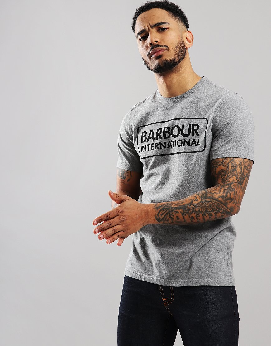 Barbour International Essential Large Logo T-Shirt Anthracite