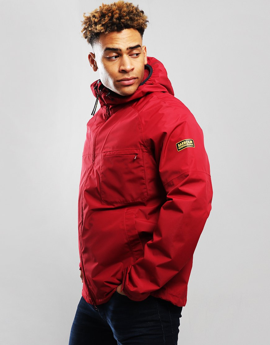 Barbour International Grange Jacket Biking Red
