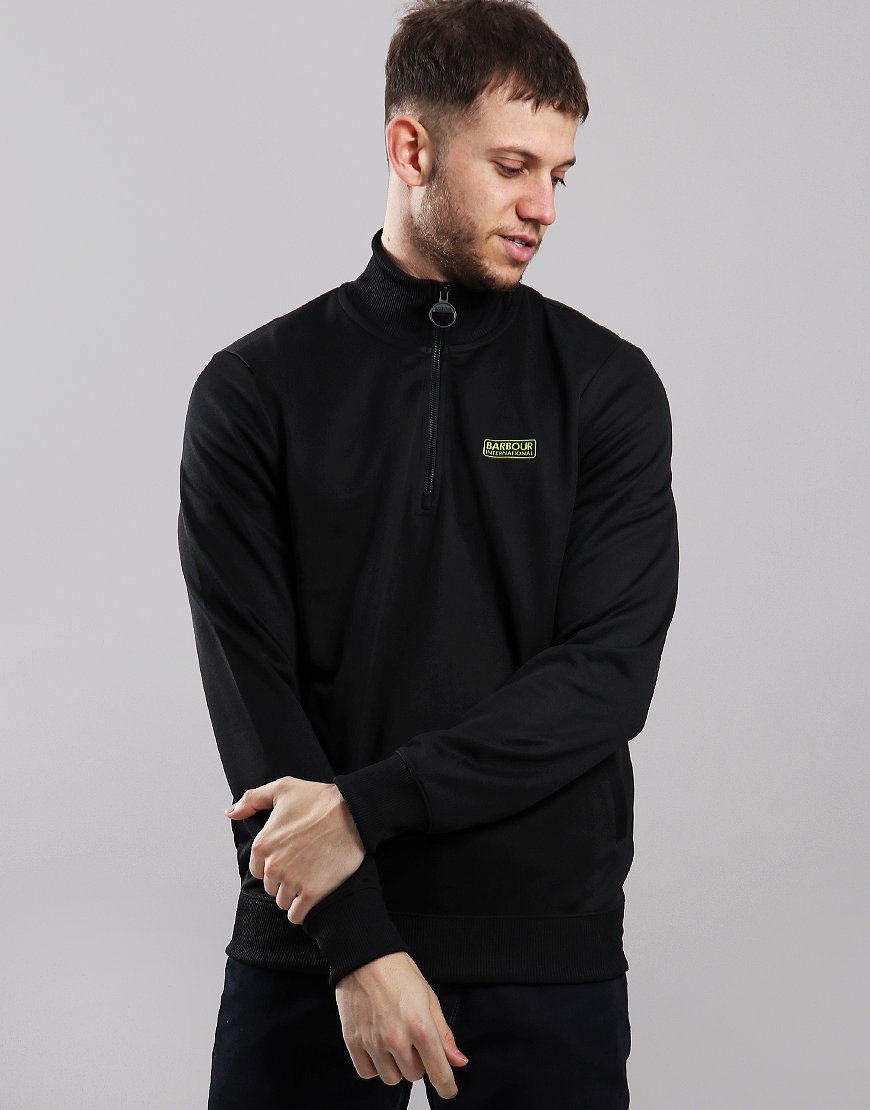 Barbour International Half Zip Track Top Black