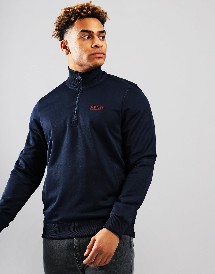 Barbour International Half Zip Track Top Navy