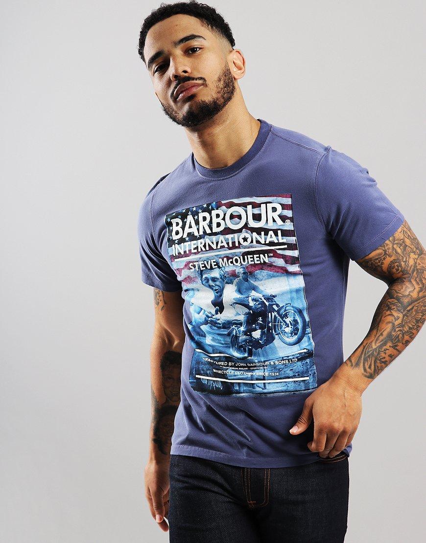 Barbour International Hero T-Shirt Wash Indigo