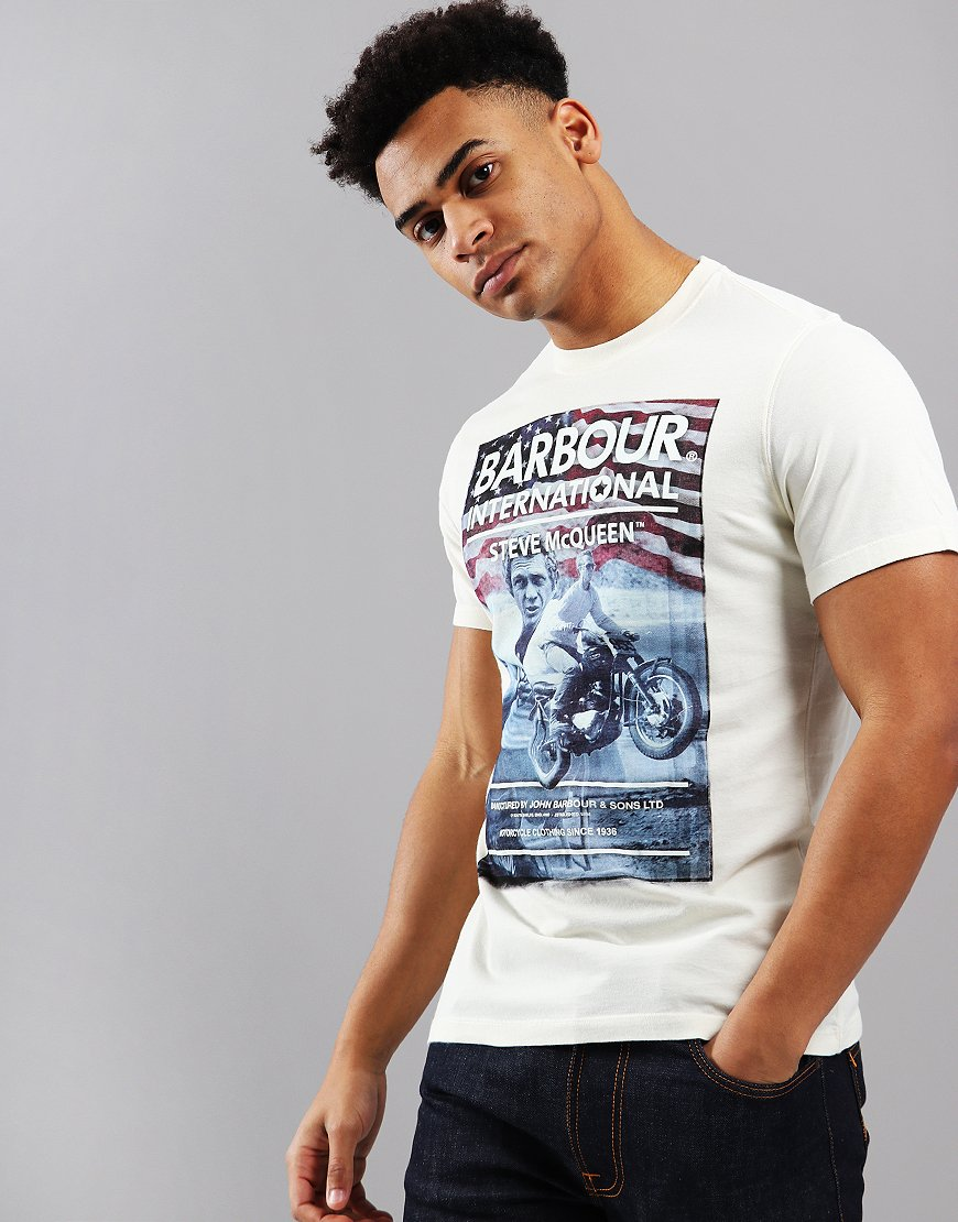 Barbour International Hero T-Shirt Chalk