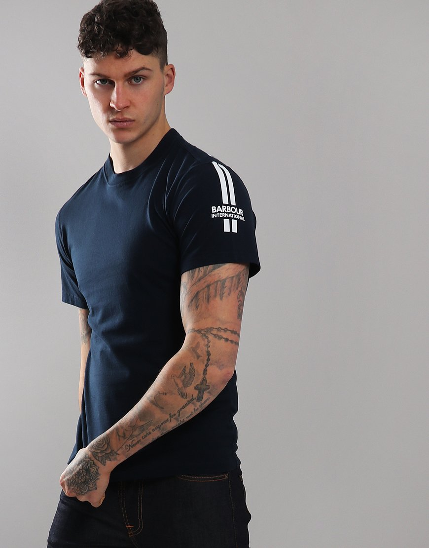 Barbour International Kinetic T-Shirt Navy