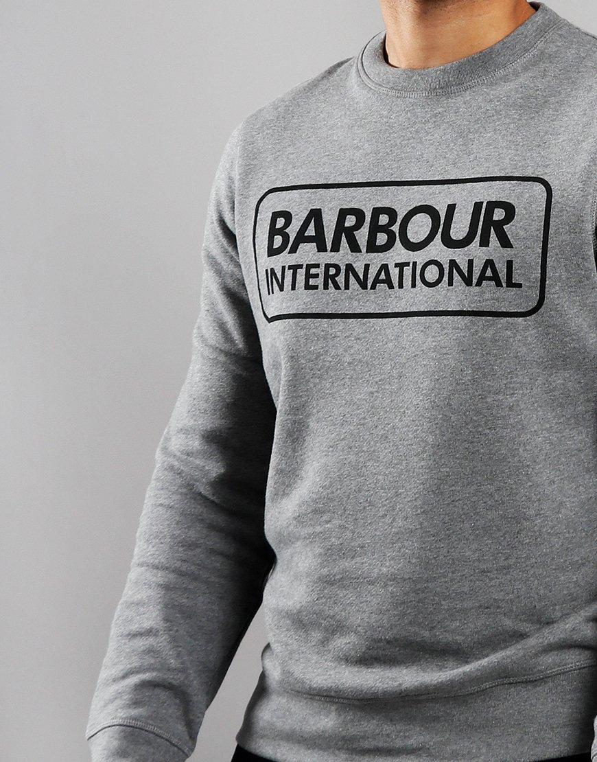 Barbour International Large Logo Crew Neck Sweat Grey