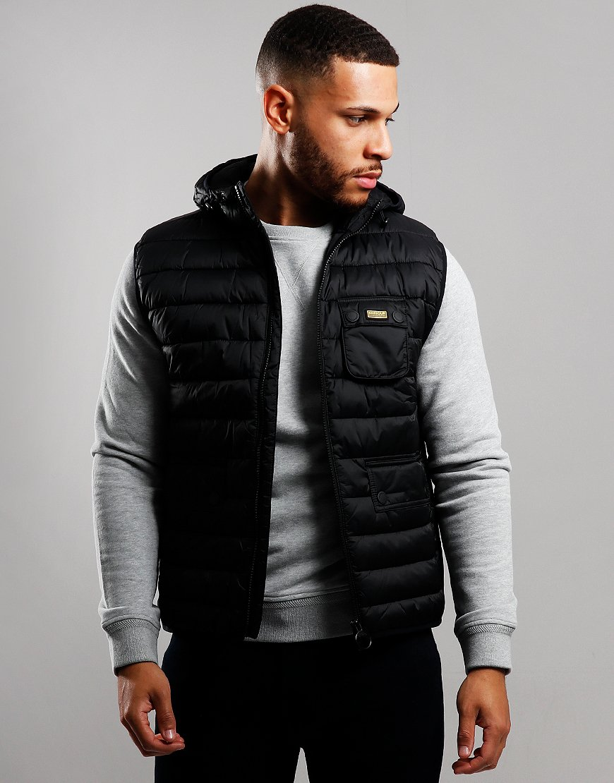 Barbour International Ouston Hooded Gilet Black