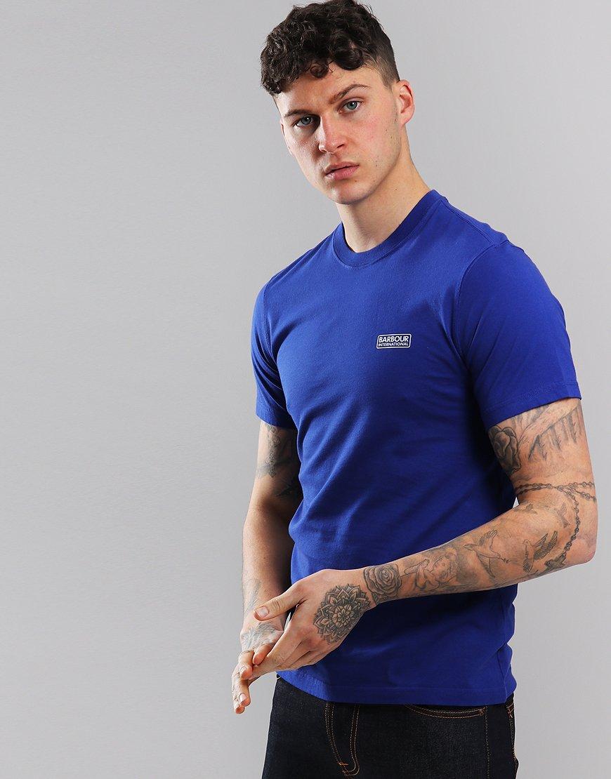 Barbour International Small Logo T-Shirt Aragon Blue