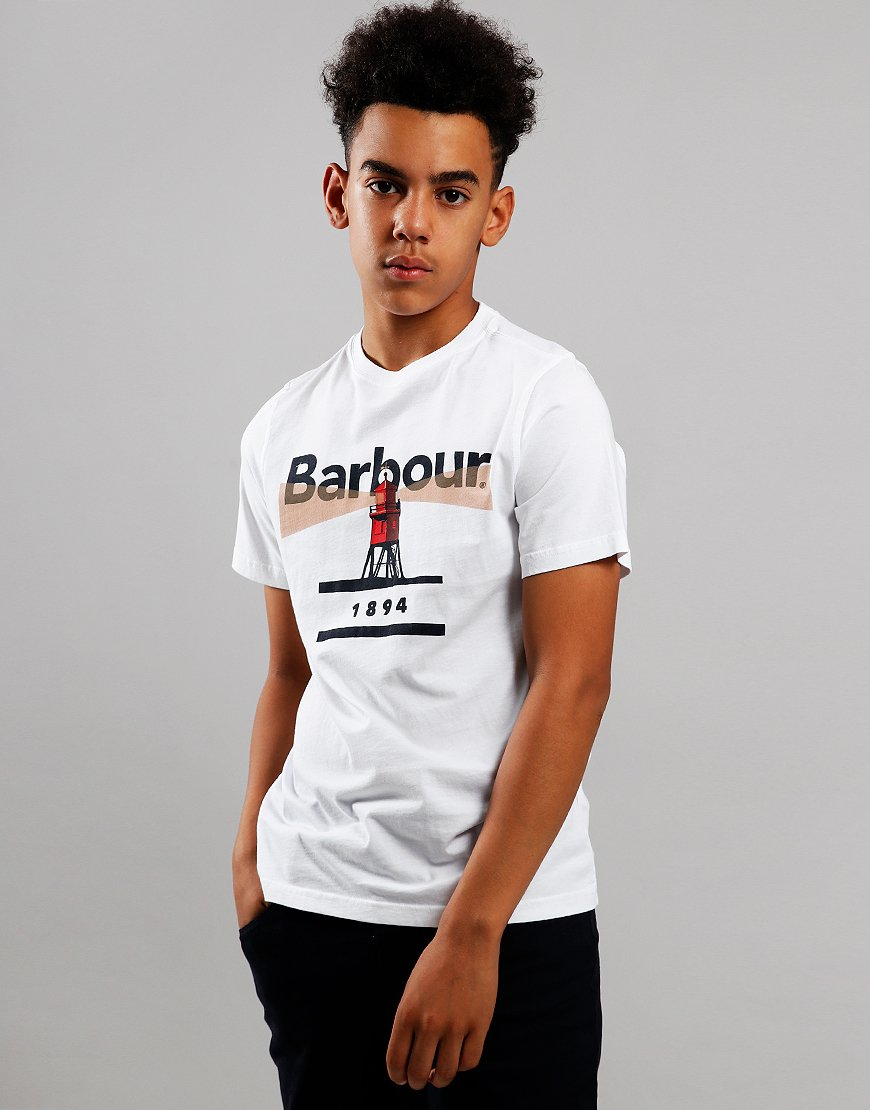 Barbour Children Lighthouse T-Shirt White