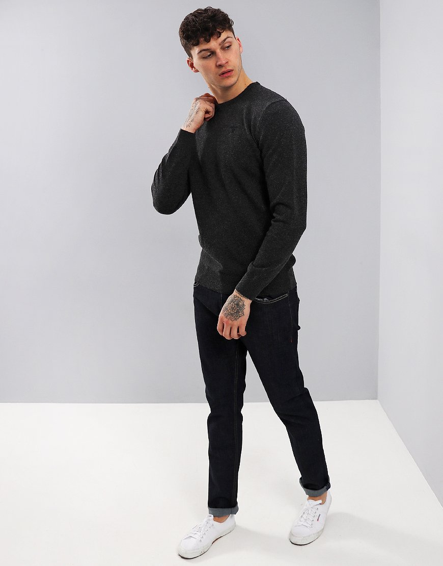 Barbour Essential Lambswool Crew Neck Knit Charcoal