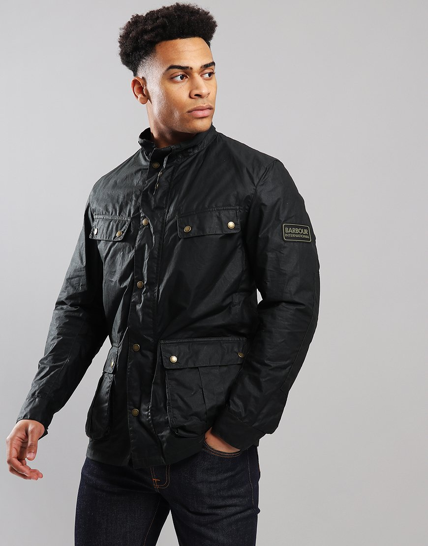Barbour International Light Weight Duke Wax Jacket Sage