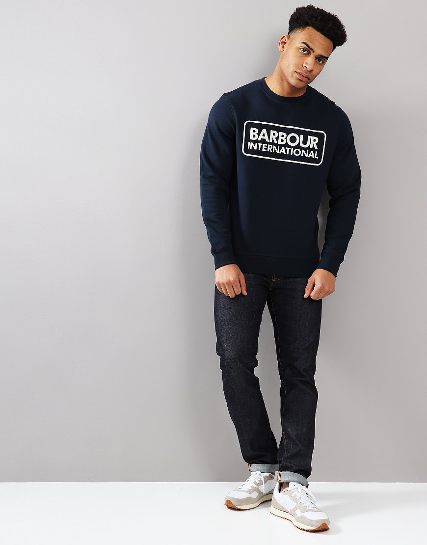 Barbour International Logo Crew Neck Sweat Navy