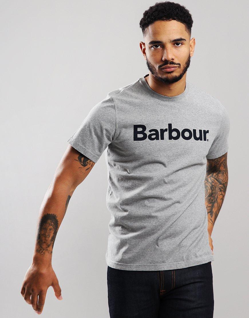 Barbour Logo T-Shirt Grey Marl