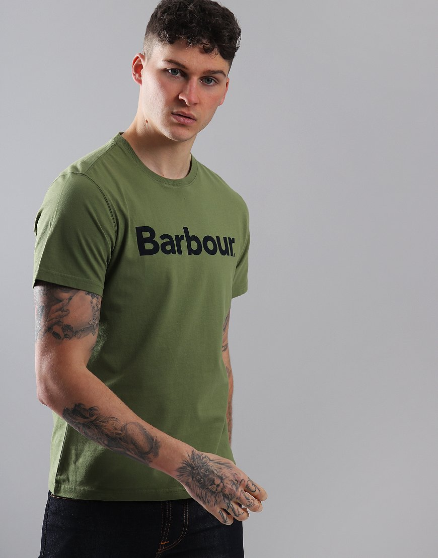 Barbour Logo T-Shirt Burnt Olive
