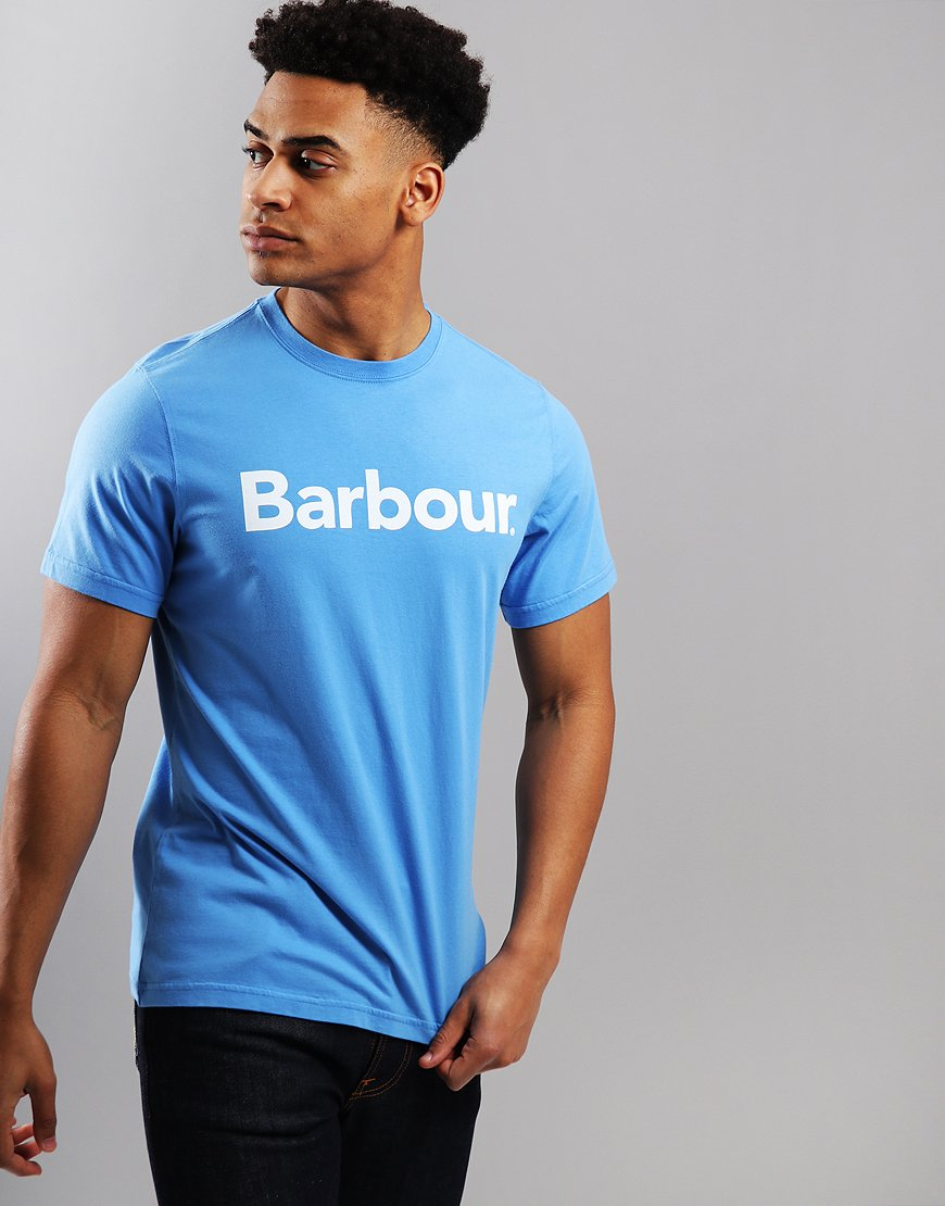 Barbour Logo T-Shirt Delft Blue