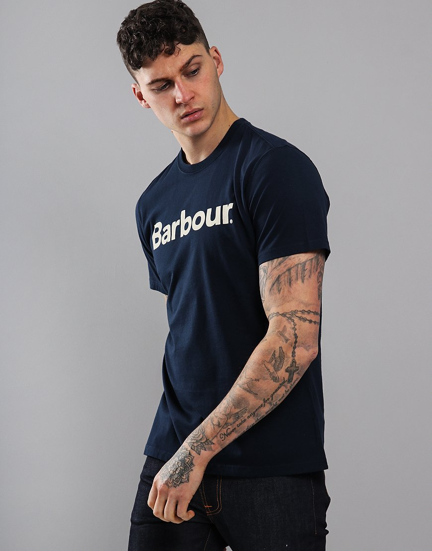 Barbour Logo T-Shirt New Navy