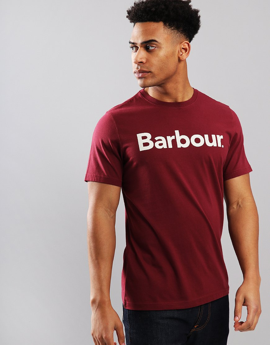 Barbour Logo T-Shirt Ruby