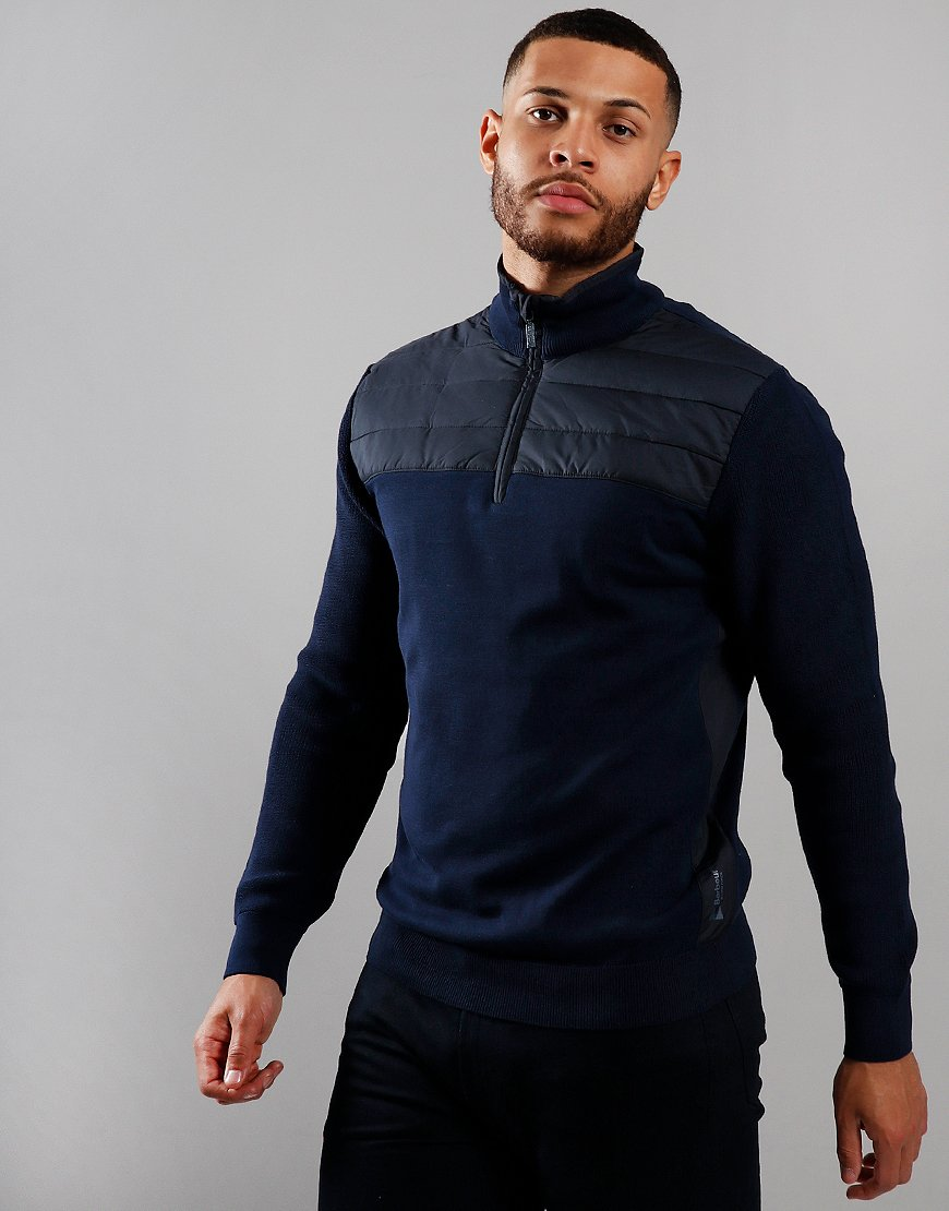 Barbour Lundy Half Zip Knit Navy