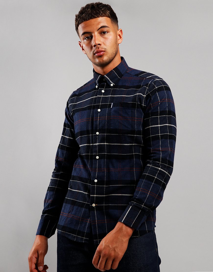 Barbour Beacon Lustleigh Long Sleeve Shirt Navy Marl