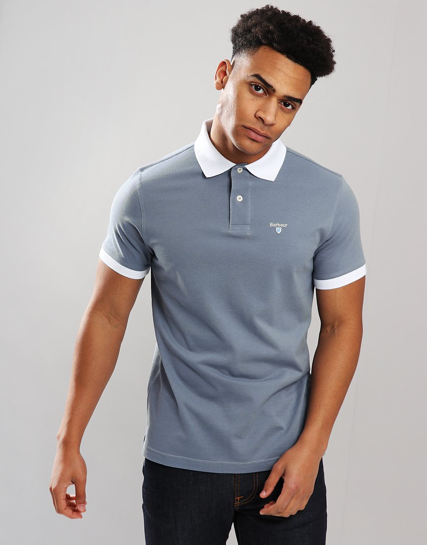 Barbour Lynton Polo Shirt Washed Blue