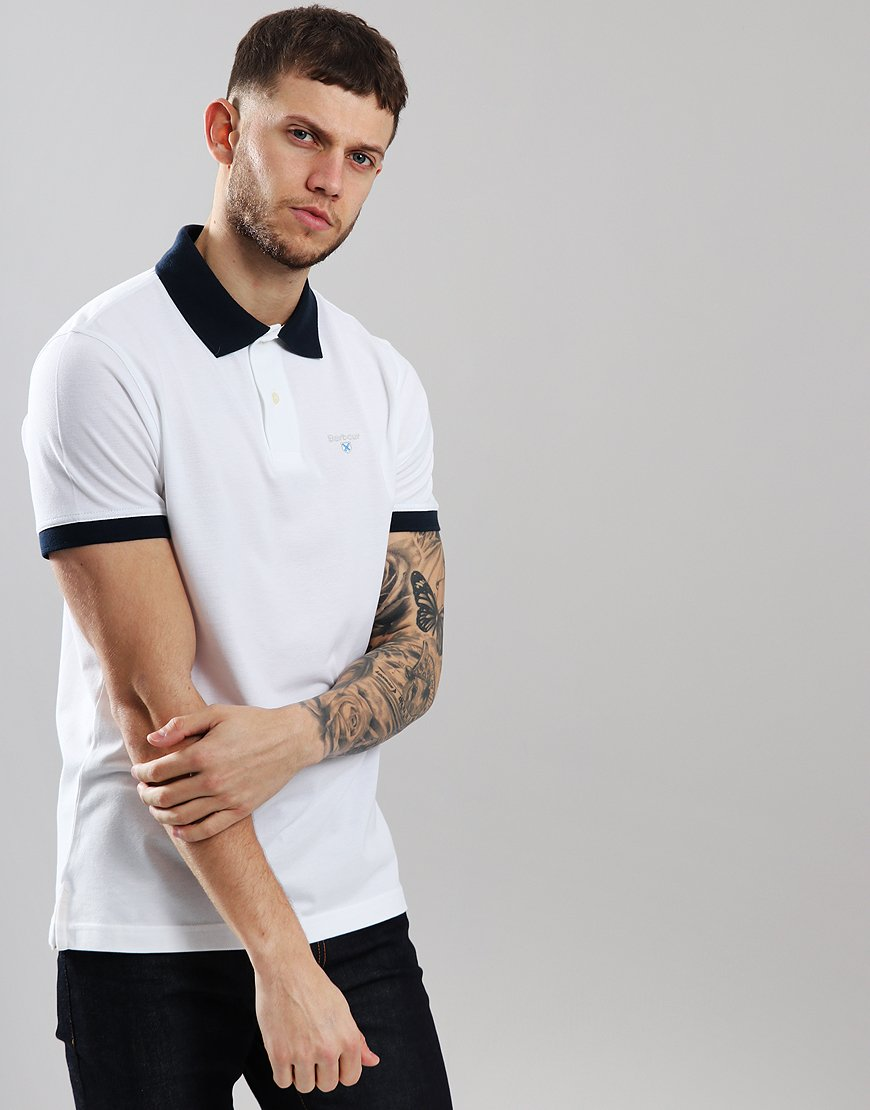 Barbour Lynton Polo Shirt White