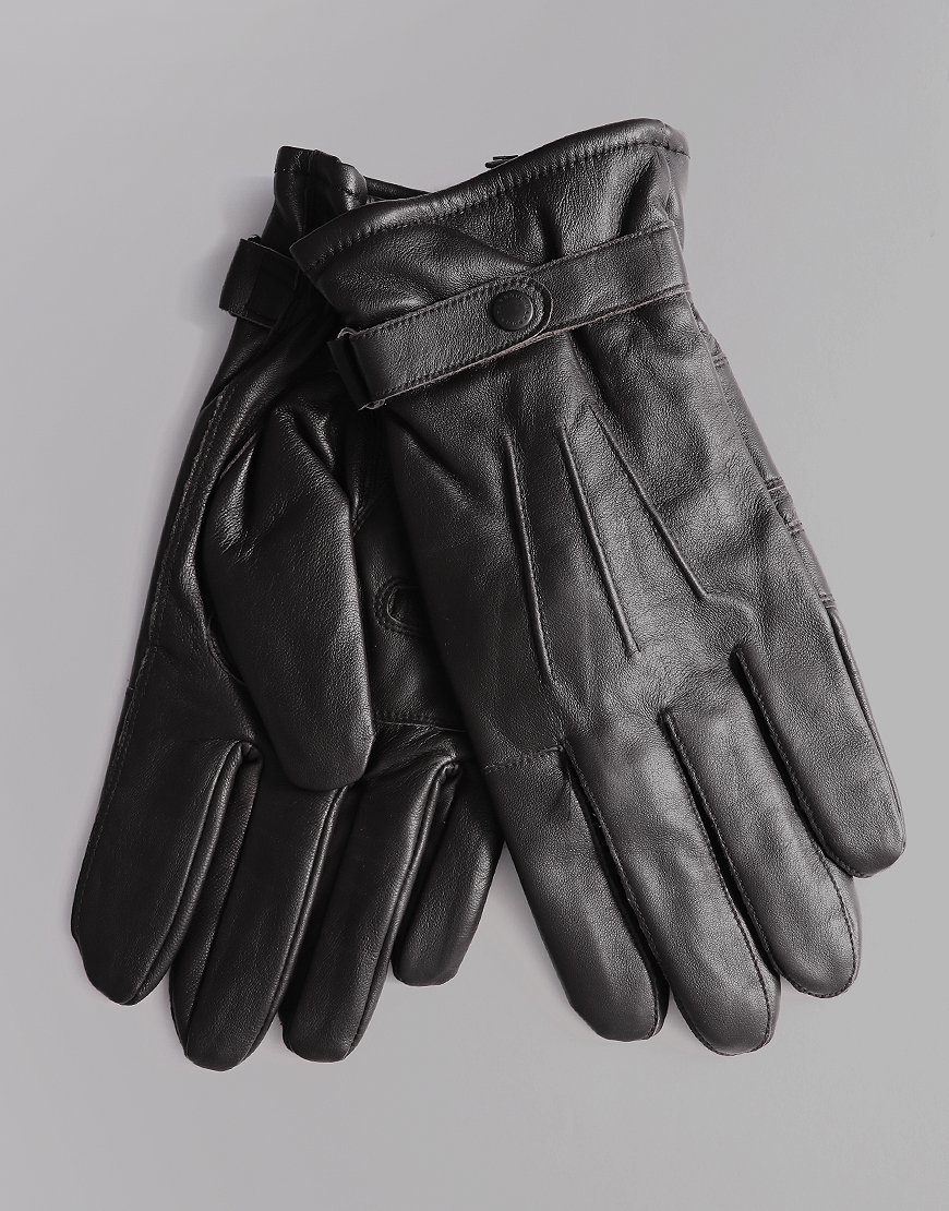 Barbour Burnished Gloves Black