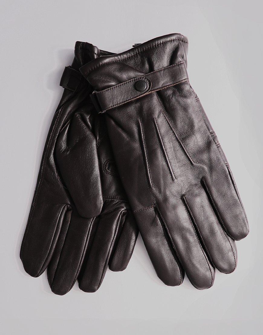 Barbour Burnished Gloves Brown