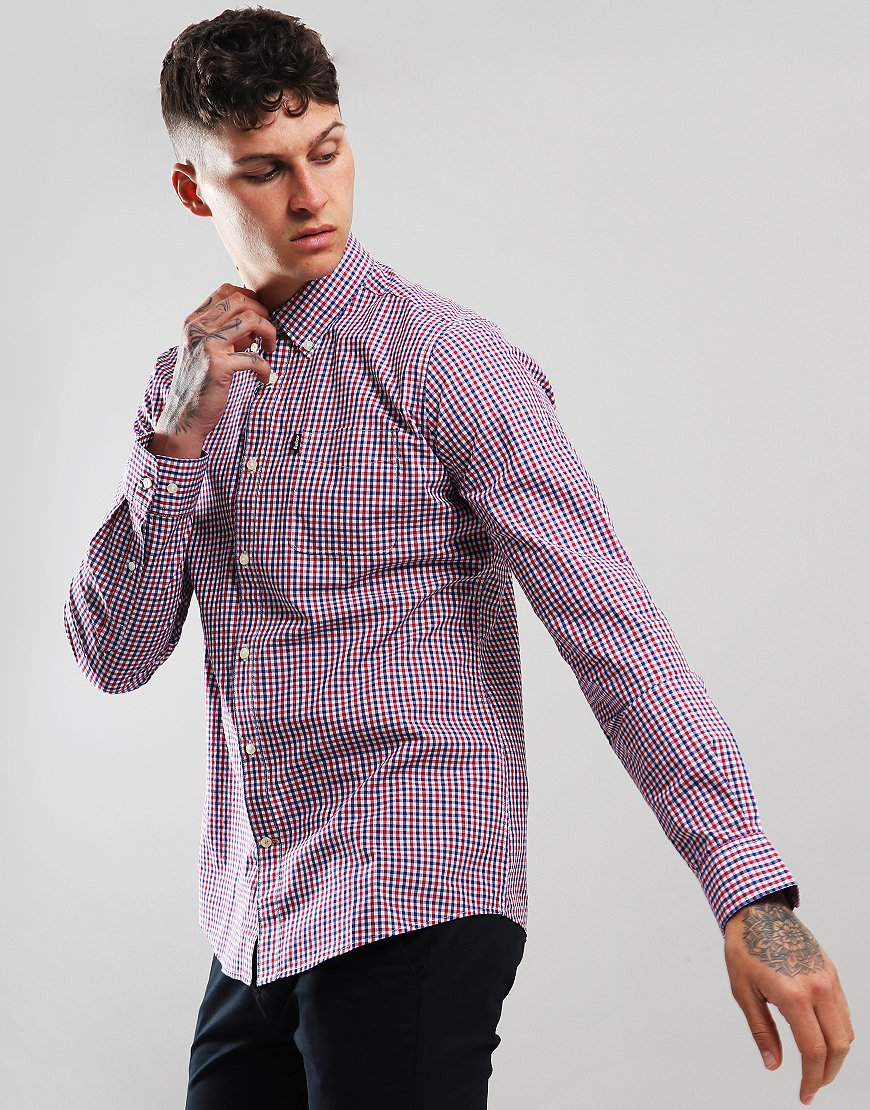 Barbour Gingham 1 Long Sleeve Shirt Red