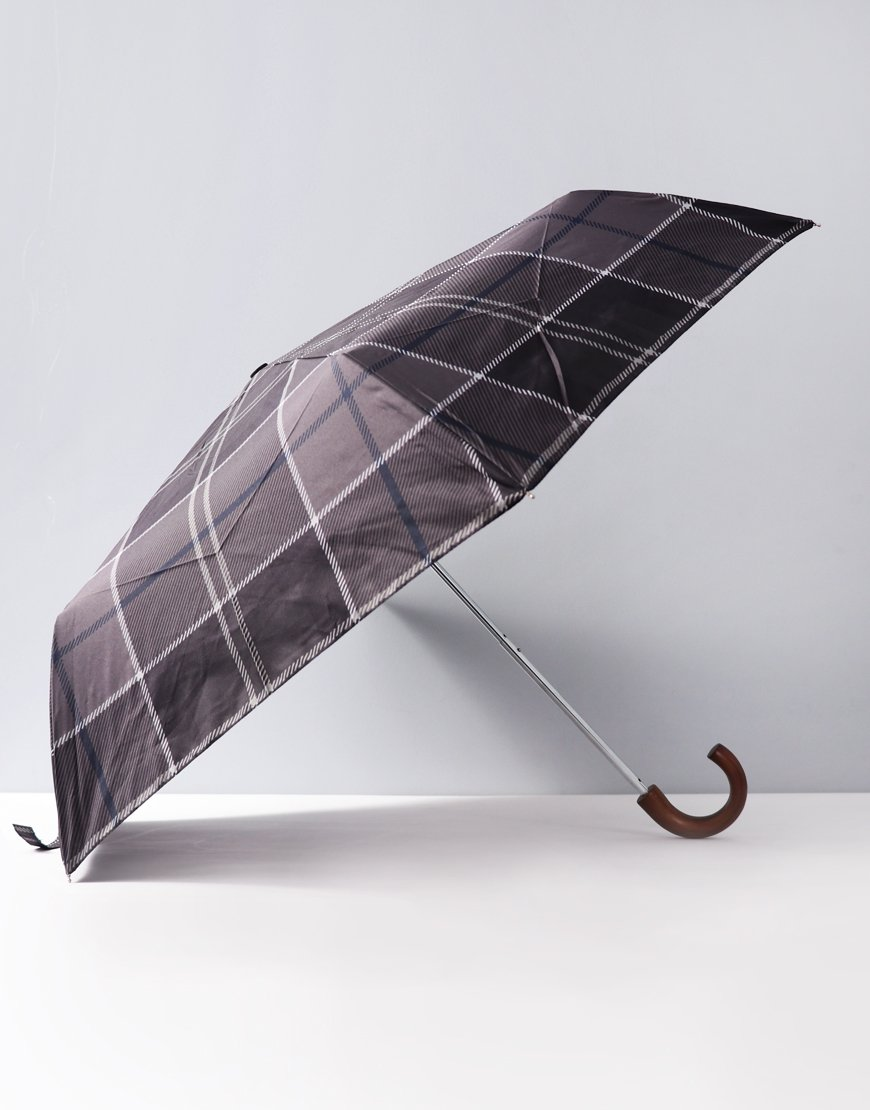 Barbour Mini Umbrella  Black/Grey Tartan