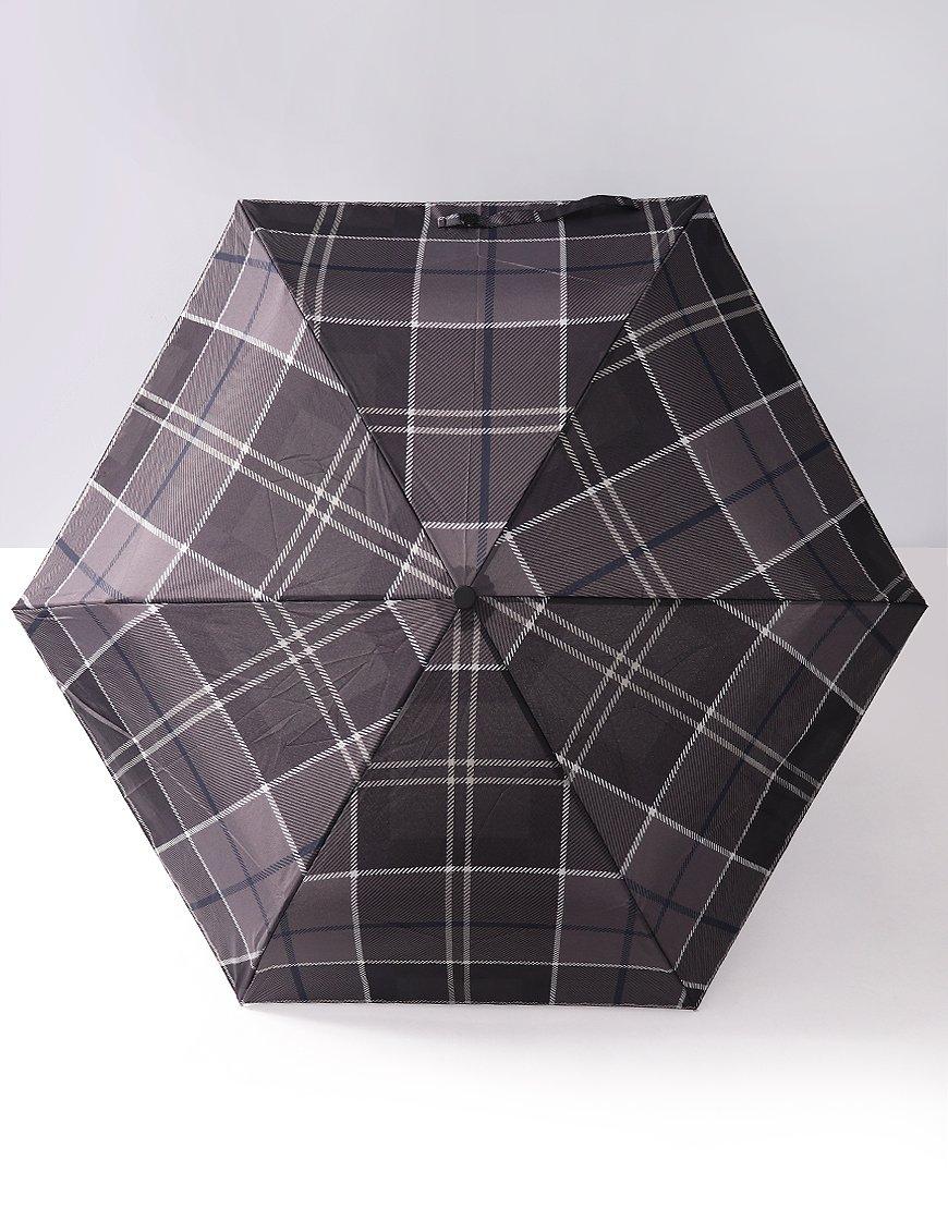 Barbour Mini Umbrella  Black/Grey Tartan