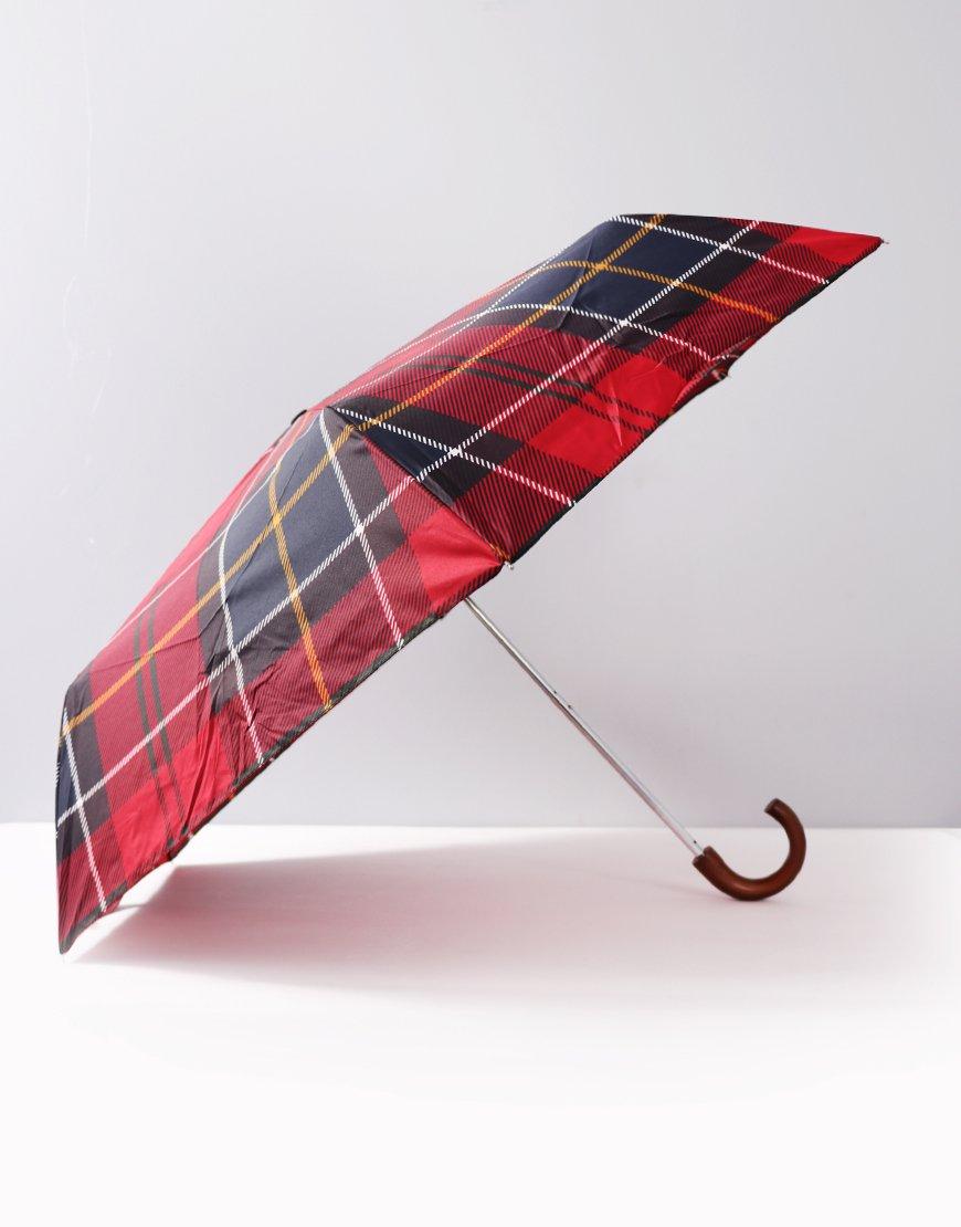 Barbour Mini Umbrella Red Tartan