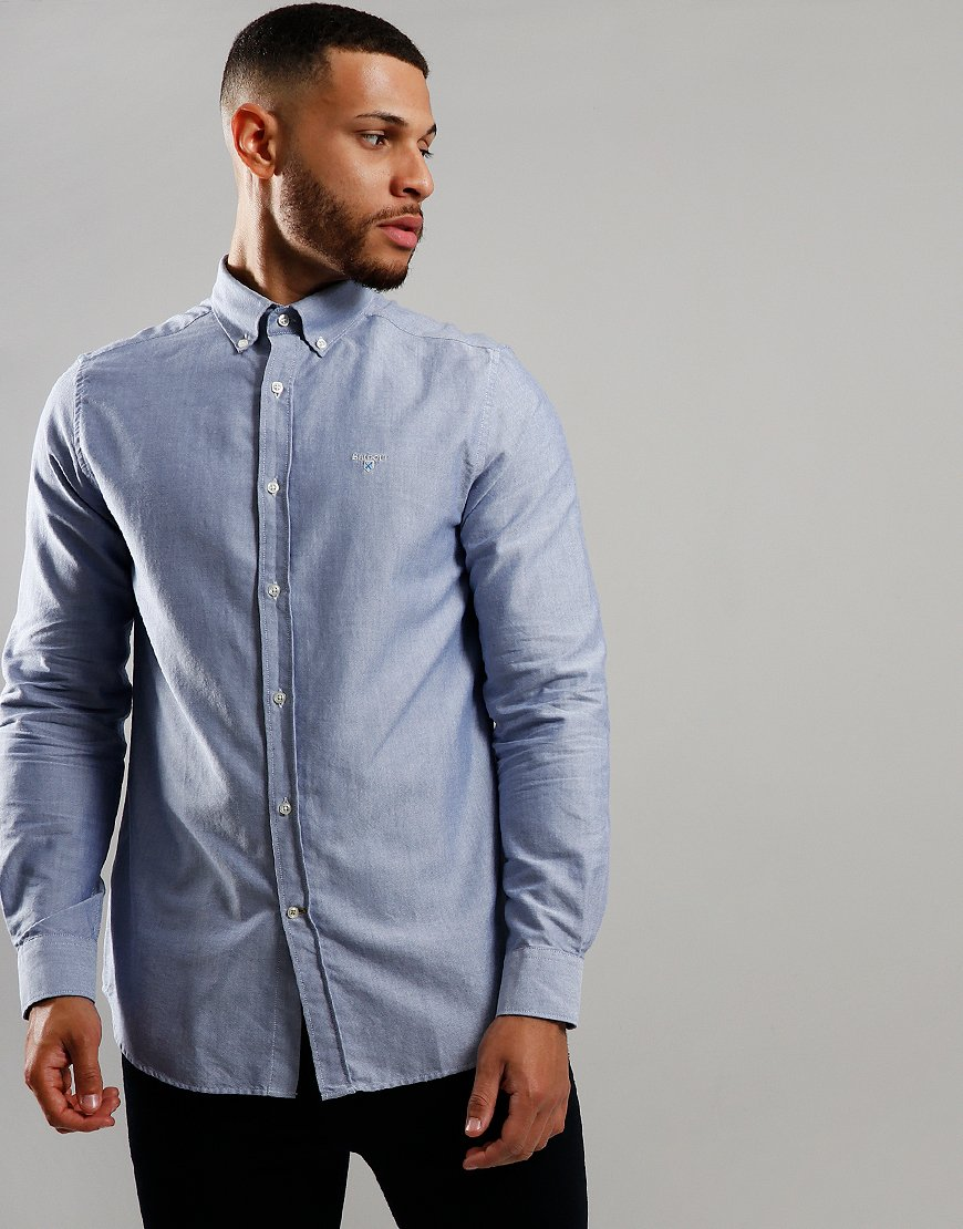 Barbour Oxford 3 Long Sleeve Shirt Indigo