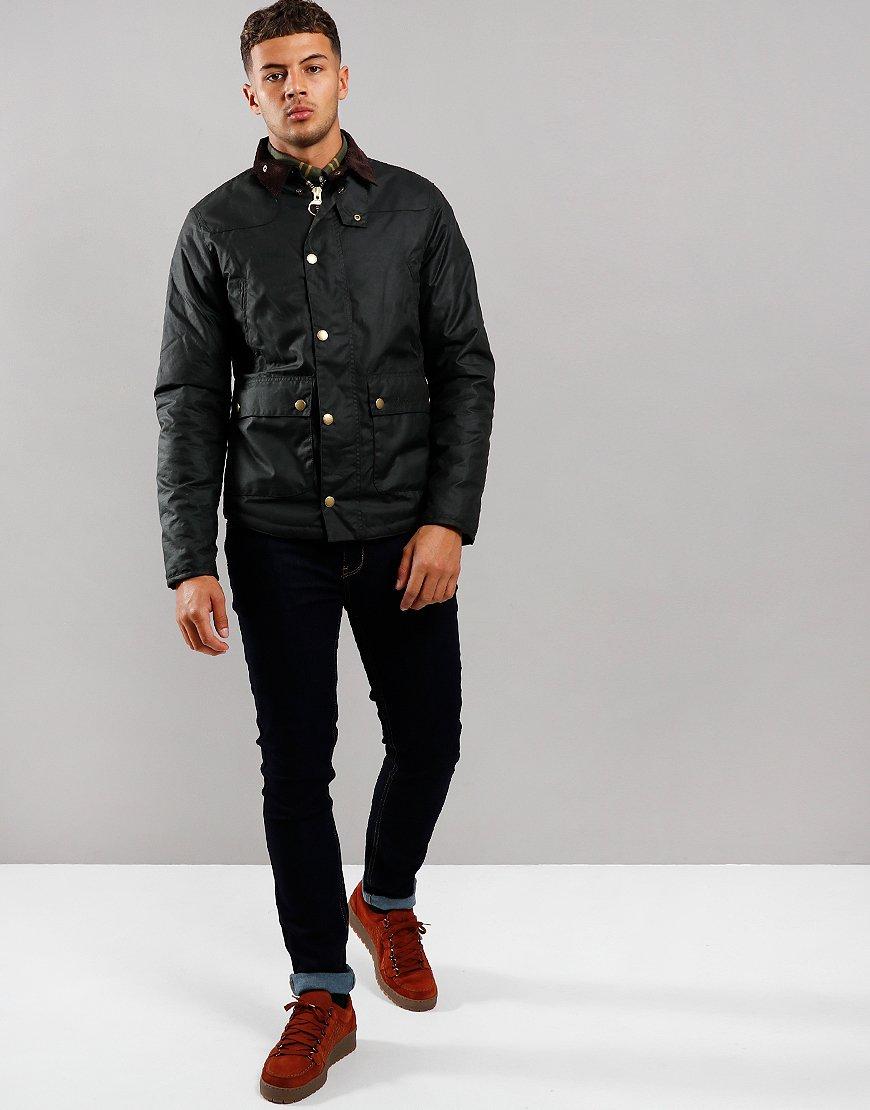 Barbour Reelin Wax Jacket Sage