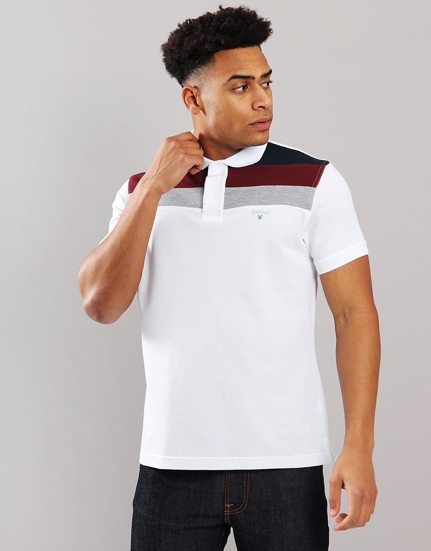Barbour Shaldon Polo Shirt White